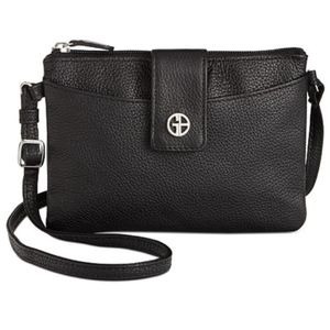 Giani Bernini Leather Mini Accordion Crossbody